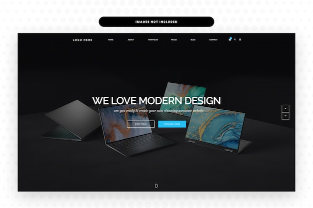 Innovative products design website landing page