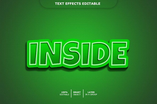 Inside 3d text style effect