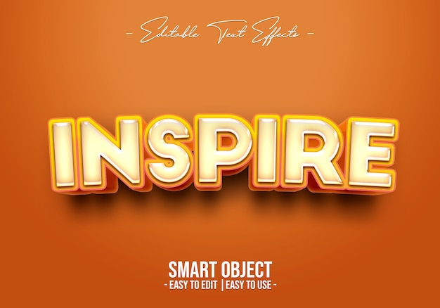 Inspire text style effect template