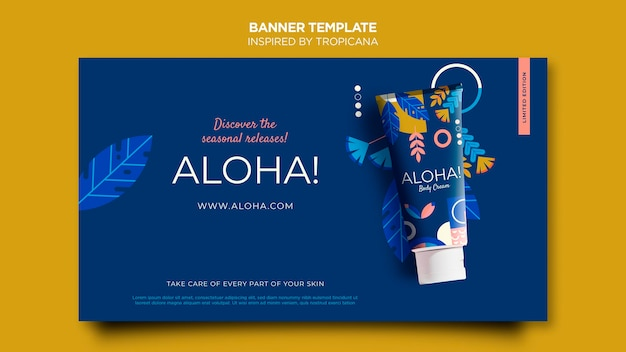 Inspired by tropicana banner template