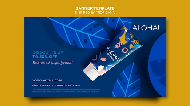 Inspired by tropicana horizontal banner template