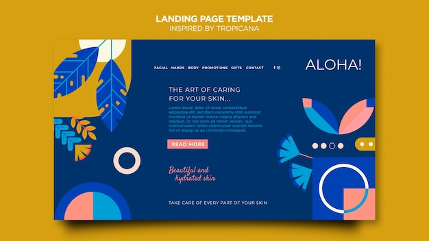 Inspired by tropicana  landing page template