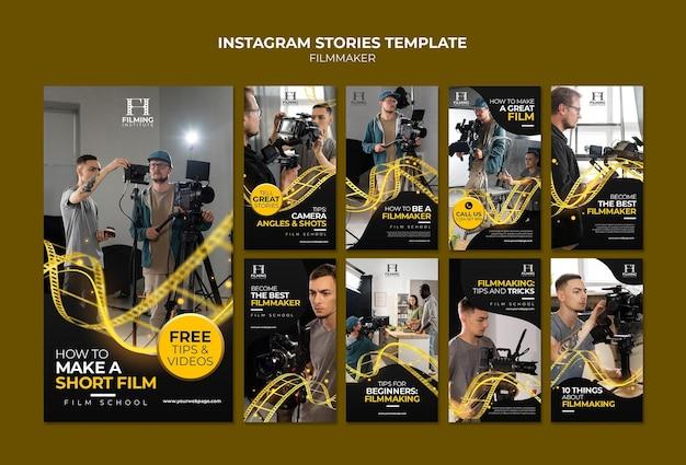 Дизайн шаблона для создателей фильмов insta story