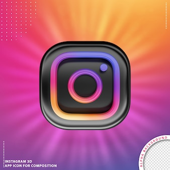 Instagram 3d application button