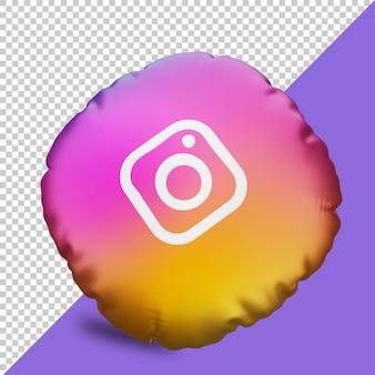 Instagram 3d 렌더링 아이콘