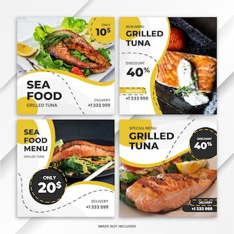 Instagram feed post bundle food template