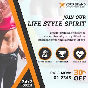 Instagram Fitness Web Banner
