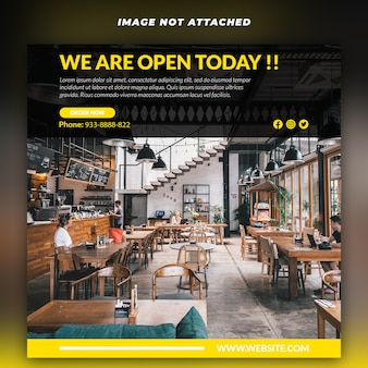 Instagram food social web banner