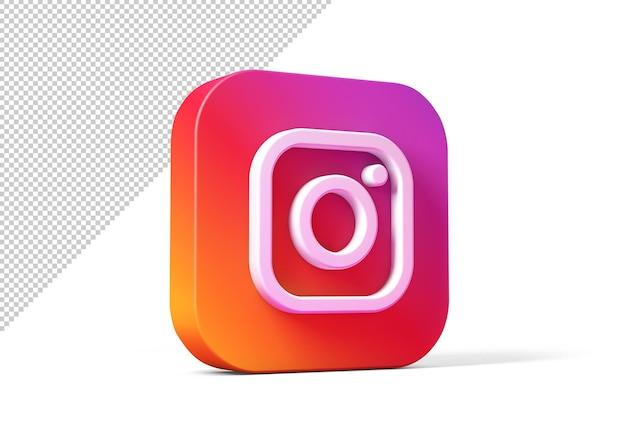 Instagram icon in 3d rendering design