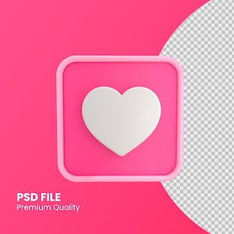 ピンク色のデザインコンセプトのようなinstagramのアイコン