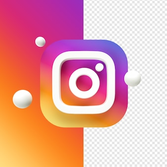 Instagram icon transparent 3d