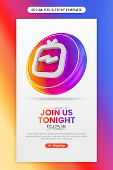 Instagram igtv social media and instagram story template