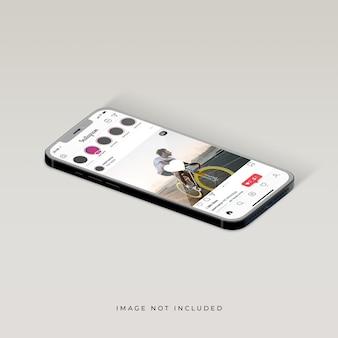 電話モックアップデザインのinstagramインターフェース