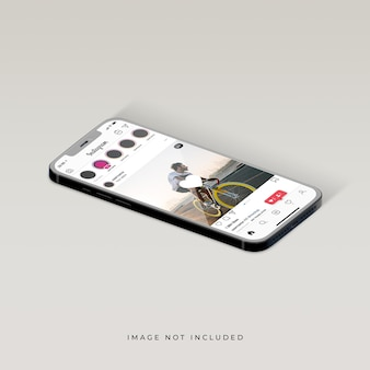 Instagram interface of phone mockup design