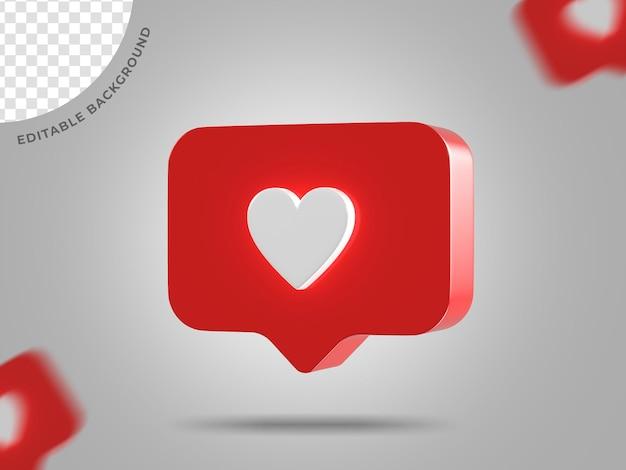 Instagram как значок 3d фон рендеринга социальных сетей редактируемый