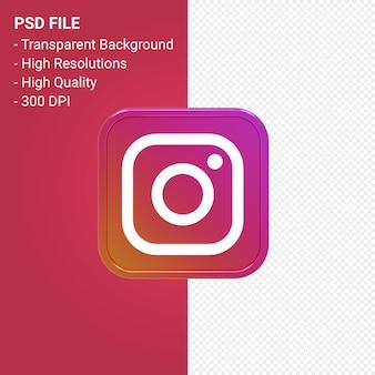 Instagram ロゴ 3 d アイコン レンダリング分離