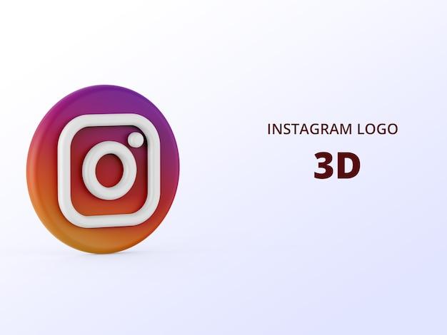 Instagram 로고 3d 렌더링