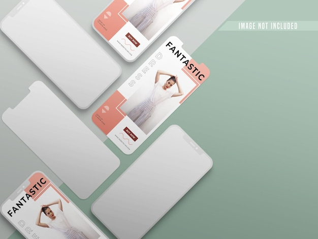 Instagram minimal post sui social media mockup