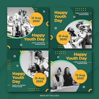 Почтовый пакет instagram для международного дня молодежи
