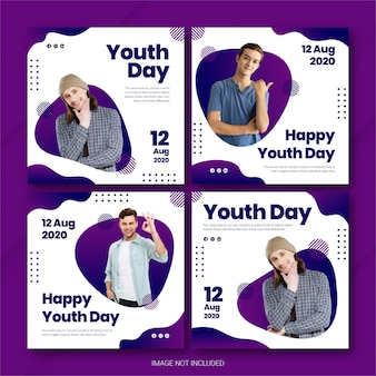 국제 청소년의 날 인스 타 그램 포스트 번들