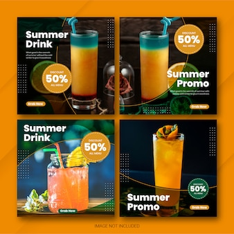 Instagram 게시물 번들 여름 시간 템플릿