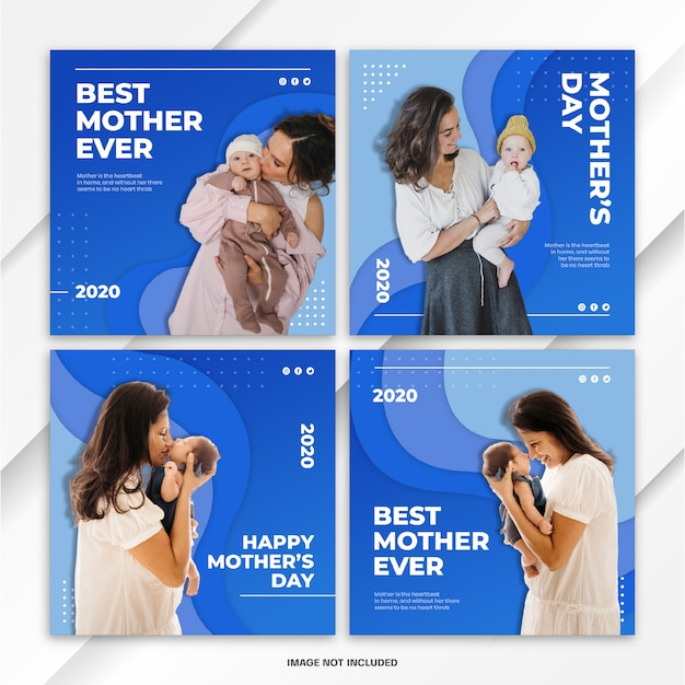 Instagram post bundle world mother's day template