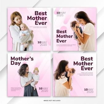 Instagram post bundle 세계 어머니의 날 템플릿