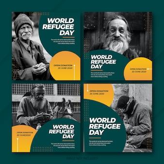 Всемирный день беженцев в instagram