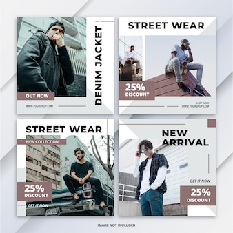 Instagram баннер post bundle мода продажа шаблон