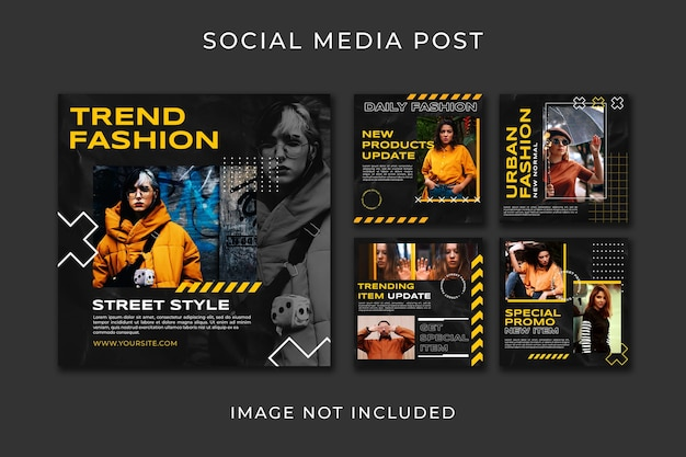 Instagram post collection fashion style template