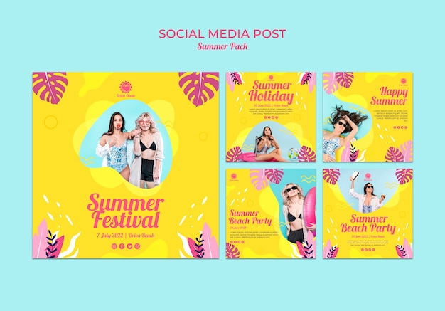 Instagram post collection for summer festival