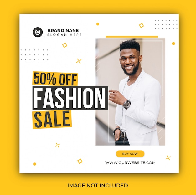 Instagram post fashion sale social media banner template