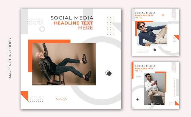 Instagram post vendita di moda social media e modello di banner web