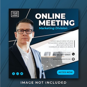 Instagram post or flyer square business template psd