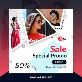 Instagram post, square banner or flyer template