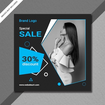 Instagram post or square sale banner template