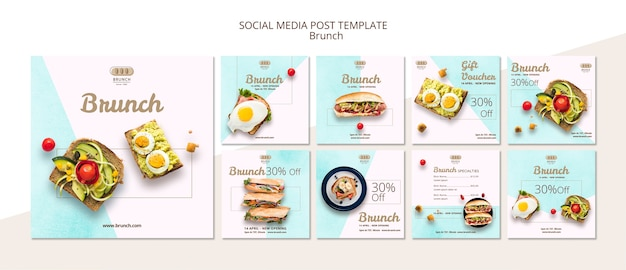 Instagram post template collection