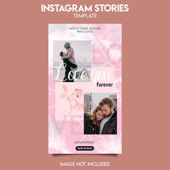 Instagram post template for love story