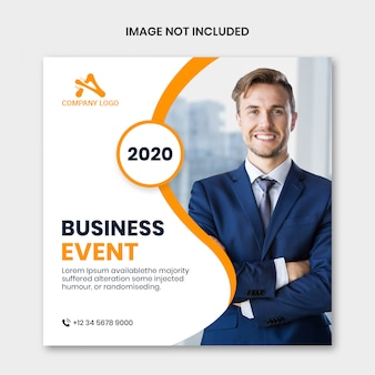 Instagram post template or square flyer for business marketing