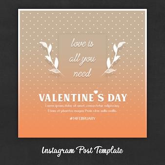 Шаблоны постов в instagram на день святого валентина