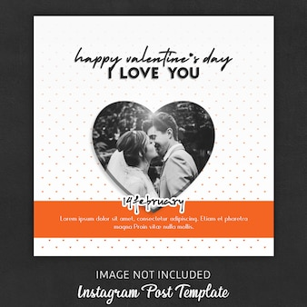 Instagram post templates for valentine's day
