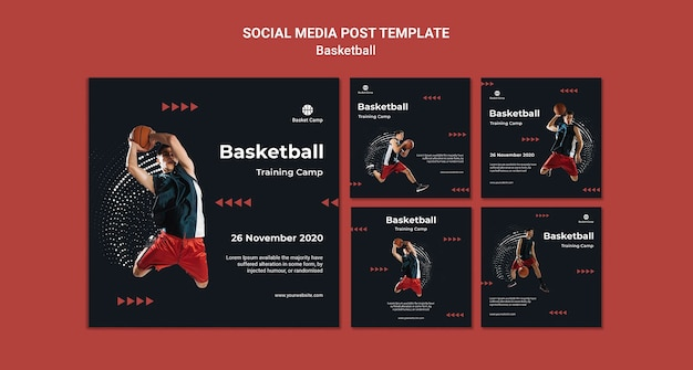 Instagram posts collection for basketball training camp