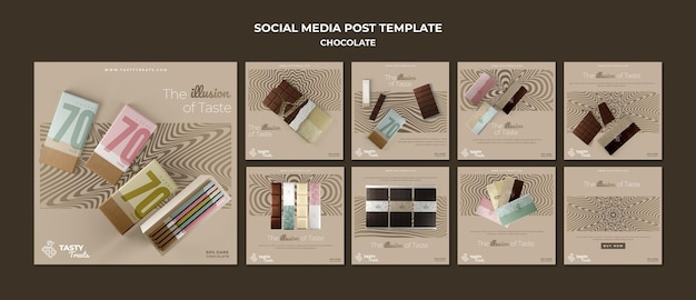 Instagram posts collection for chocolate