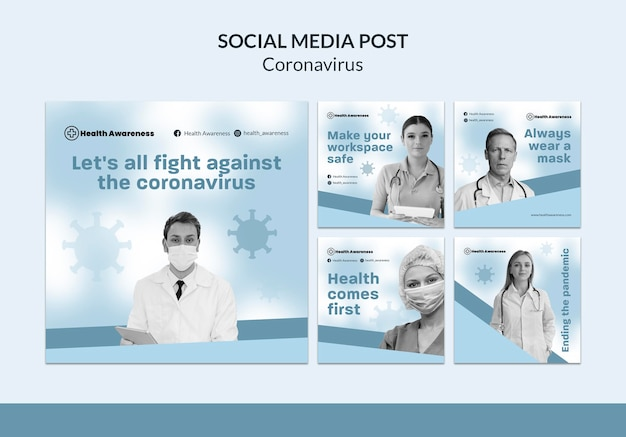 Instagram posts collection for coronavirus pandemic