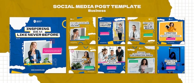 Instagram posts collection for creative business solutions