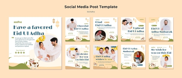 Instagram posts collection for eid al-adha celebration