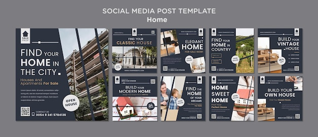 Instagram posts collection for finding the perfect home