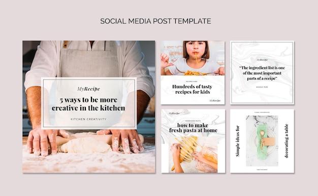 Коллекция постов в instagram для обучения готовке