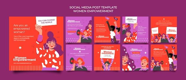 女性のエンパワーメントのためのinstagramの投稿コレクション
