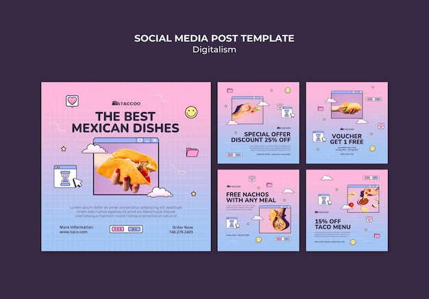 Instagram posts collection for mexican food restaurant